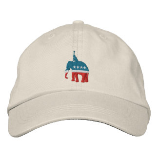 Republican Polo Player Embroidered Baseball Hat