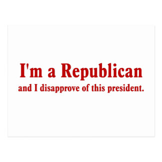 Republican Presidential Approval Falling Postcard