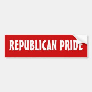 REPUBLICAN PRIDE - bumper sticker Car Bumper Sticker