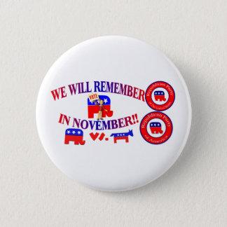 Republican Remember In November Anti ObamaCare Button
