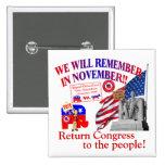 Republican Remember In November Anti ObamaCare Pin