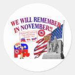 Republican Remember In November Anti ObamaCare Sticker