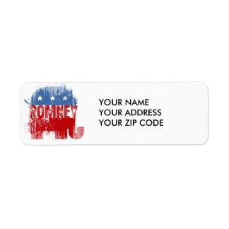 Republican ROMNEY Return Address Labels