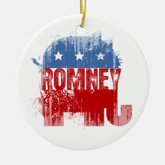 Republican ROMNEY.png Double-Sided Ceramic Round Christmas Ornament
