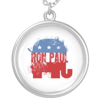 REPUBLICAN RON PAUL ROUND PENDANT NECKLACE