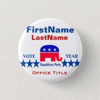Republican Round Button Template