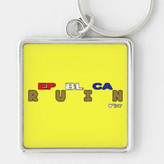 Republican Ruin Obama 2012 Keychain