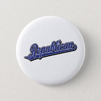 Republican Script Logo Deluxe Blue Button