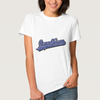 Republican Script Logo Deluxe Blue T-Shirt
