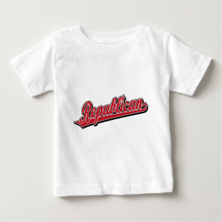 Republican Script Logo Deluxe Red Baby T-Shirt