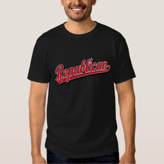 Republican Script Logo Deluxe Red T-Shirt