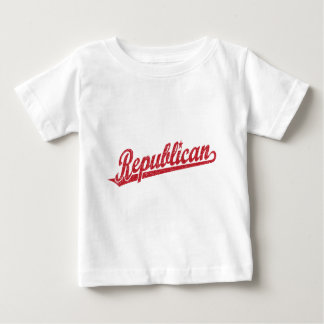 Republican Script Logo Distressed Baby T-Shirt