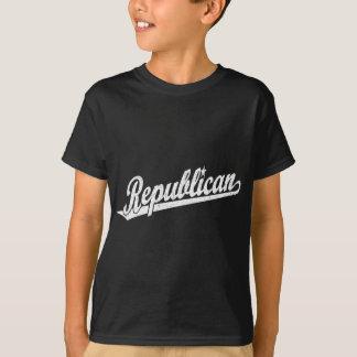 Republican Script Logo Distressed T-Shirt