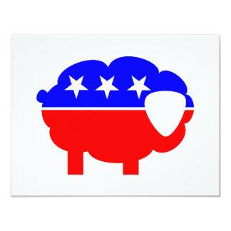 Republican Sheep Custom Invites
