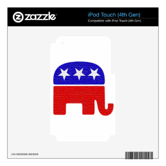 REPUBLICAN iPod TOUCH 4G DECALS