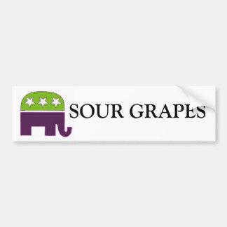 Republican, SOUR GRAPES Car Bumper Sticker