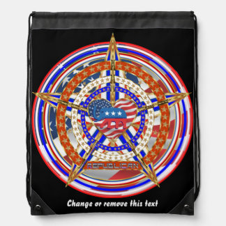 Republican Special Edition Runner Fundraier Drawstring Bag