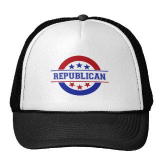 Republican Stamp Logo Blue Trucker Hat