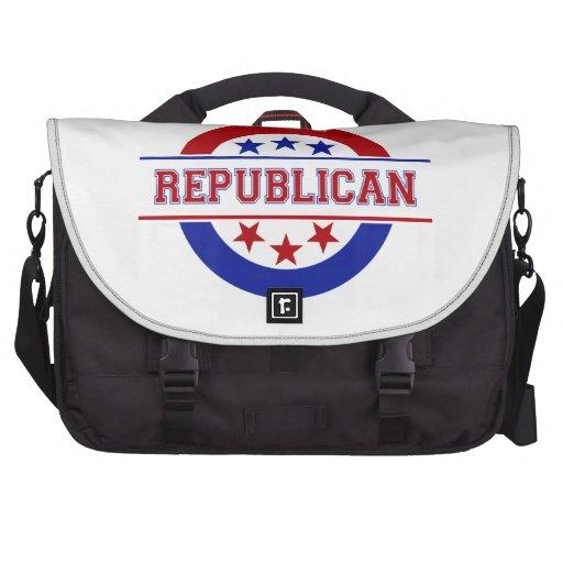 Republican Stamp Logo Red Bag For Laptop