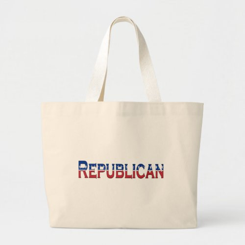 Republican Stars and Stripes Logo Large Tote Bag