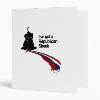REPUBLICAN STREAK png Vinyl Binder