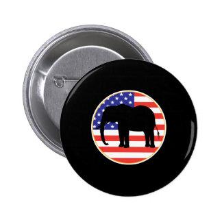 republican symbol elephant design 2 inch round button