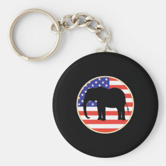 republican symbol elephant design key chain