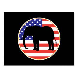 republican symbol elephant design postcard