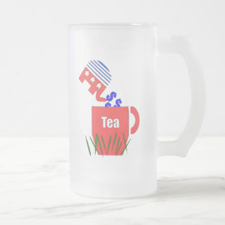 Republican Tea Frosted Glass Beer Mug