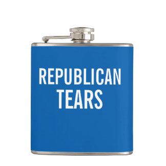 Republican Tears Democrat color scheme Flask