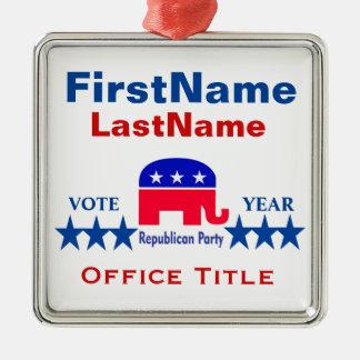 Republican Templates Metal Ornament