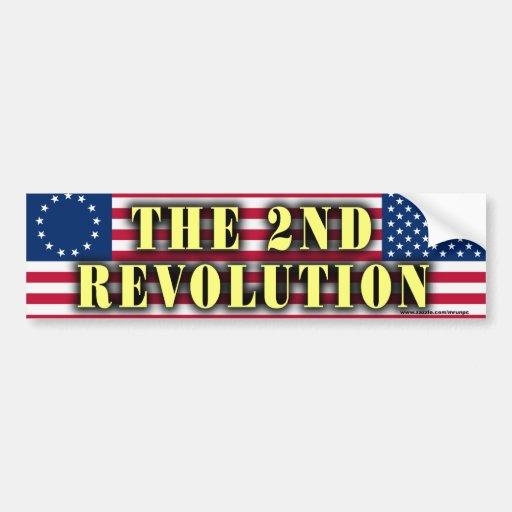"""Republican """"The 2nd Revolution"""" bumper sticker"""