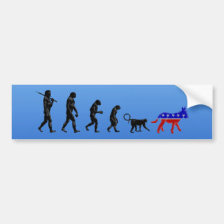 Republican Theory of Devolution Car Bumper Sticker