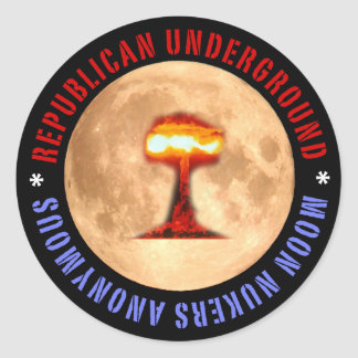 Republican Underground: Moon Nukers Anonymous Classic Round Sticker