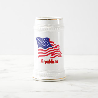 Republican/USA/American Flag Beer Stein