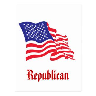 Republican/USA/American Flag Post Card