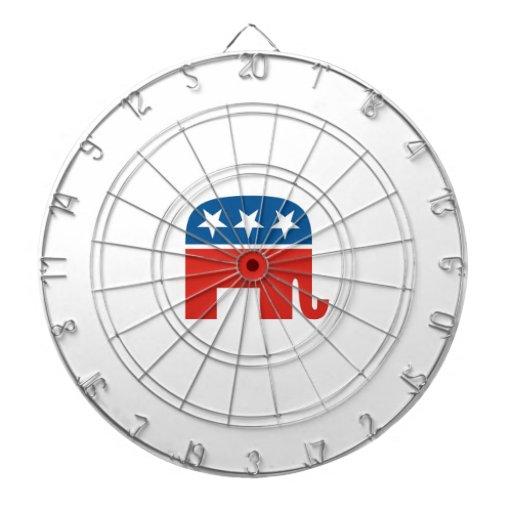 republican usa party dart board