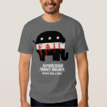 Republican Values - Greed, Fear, and Hate Tee Shirts