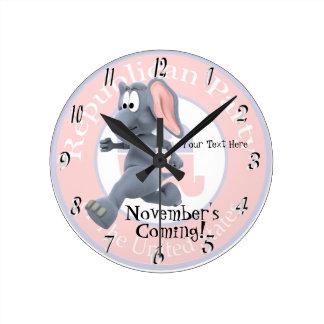 Republican Version of Novembers Coming Wall Clock