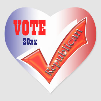 Republican vote President 20xx CUSTOMIZE Heart Sticker