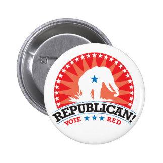 Republican! Vote Red! Pins