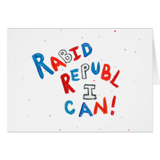Republican voter rabid supporter fun word art card