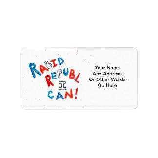 Republican voter rabid supporter fun word art label