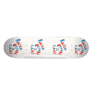 Republican voter rabid supporter fun word art skateboard