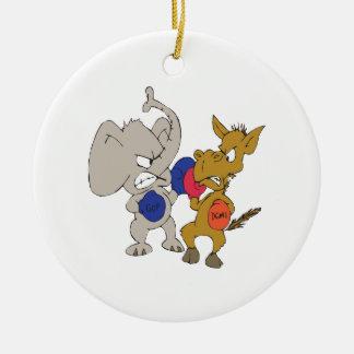 Republican Vs Democrat Ceramic Ornament