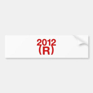 Republican Win in 2012 Car Bumper Sticker