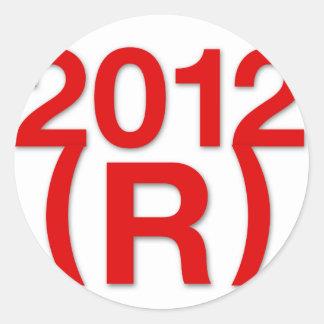 Republican Win in 2012 Classic Round Sticker
