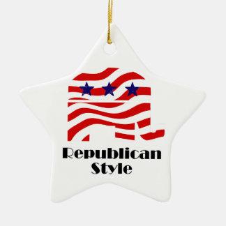 Republican with Style (2) Ceramic Ornament