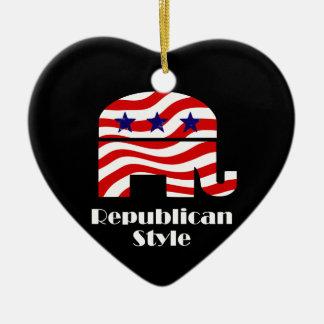 Republican with Style Ceramic Ornament