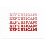 REPUBLICAN x 5 Postcard